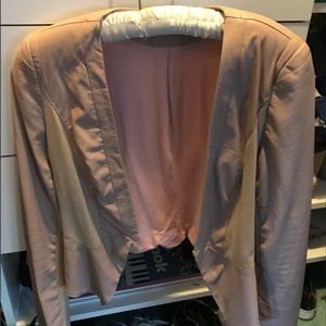 Cream Colored Warm Blazer Jacket Womens Ark & Co